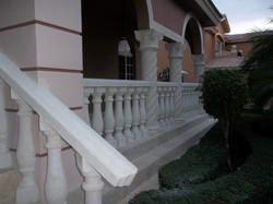 Banisters.