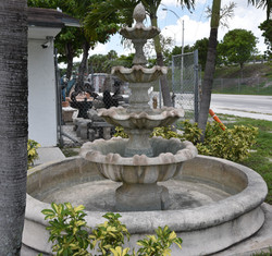4 Tier fountain with pool