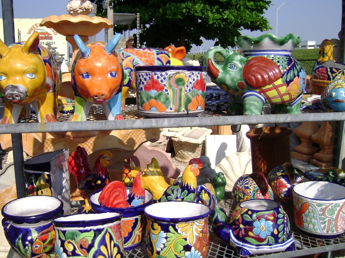 Hand made Mexican baked ceramics
