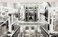 공장에서 기계