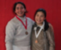 Megan Gesner and Sarah Yee: Bay Cup medalists