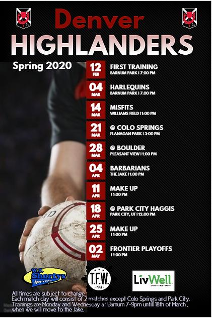 Highlanders schedule Spring2020.PNG
