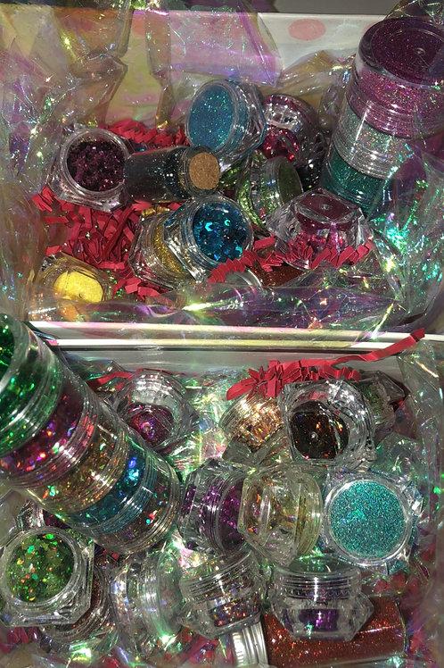 Mystery glitter box