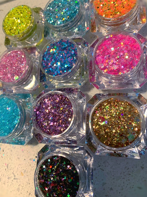 Diamond hiest collection 💎 (10 glitters 5 grams each )