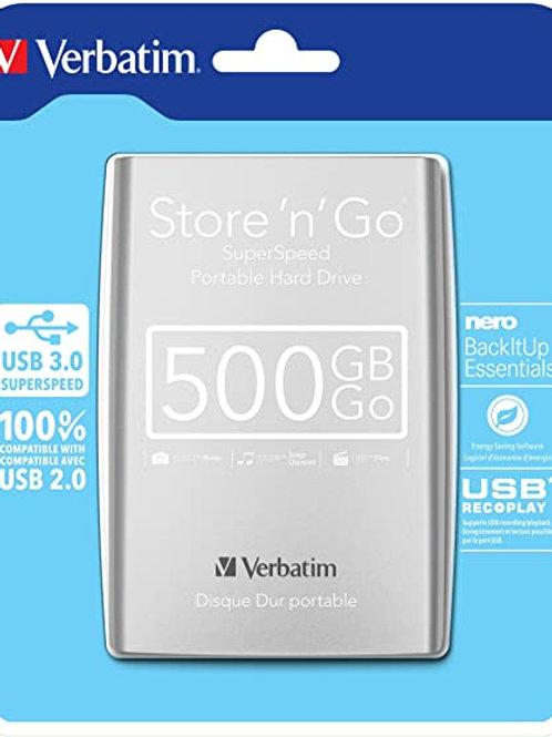 Verbatim Store 'N' Go Portable Hard Drive 500 GB