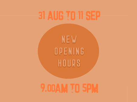 Updated opening times.