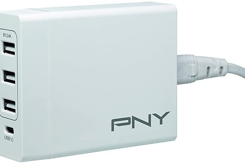 PNY Multi-USB Charger with USB-C 72w