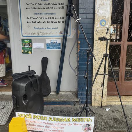 Levando música para as ruas do Rio de Janeiro