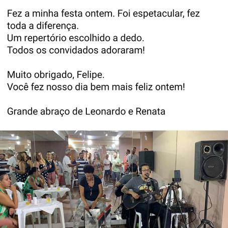 Depoimento de cliente (cantor voz e violão e bandas para casamento no RJ