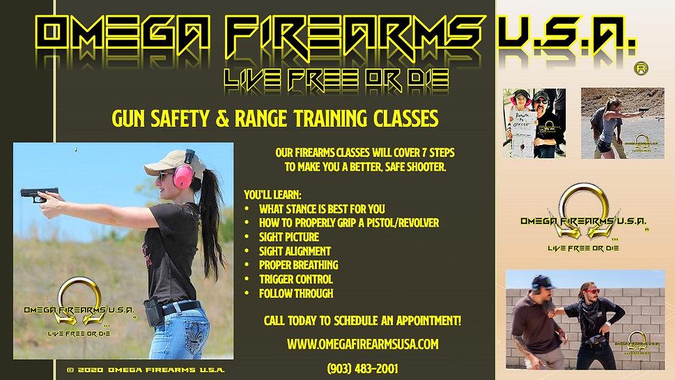 GUN SAFETY & FIREARMS TRAINING AT OMEGA FIREARMS USA TRAINING ACADEMY