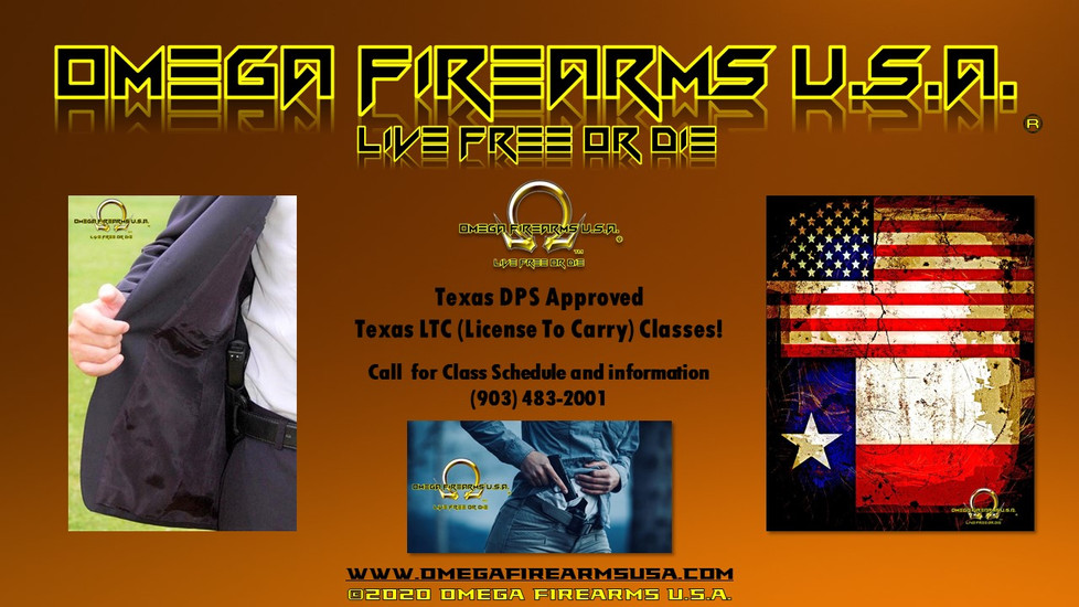 Texas DPS approved LTC Classes At Omega Firearms USA
