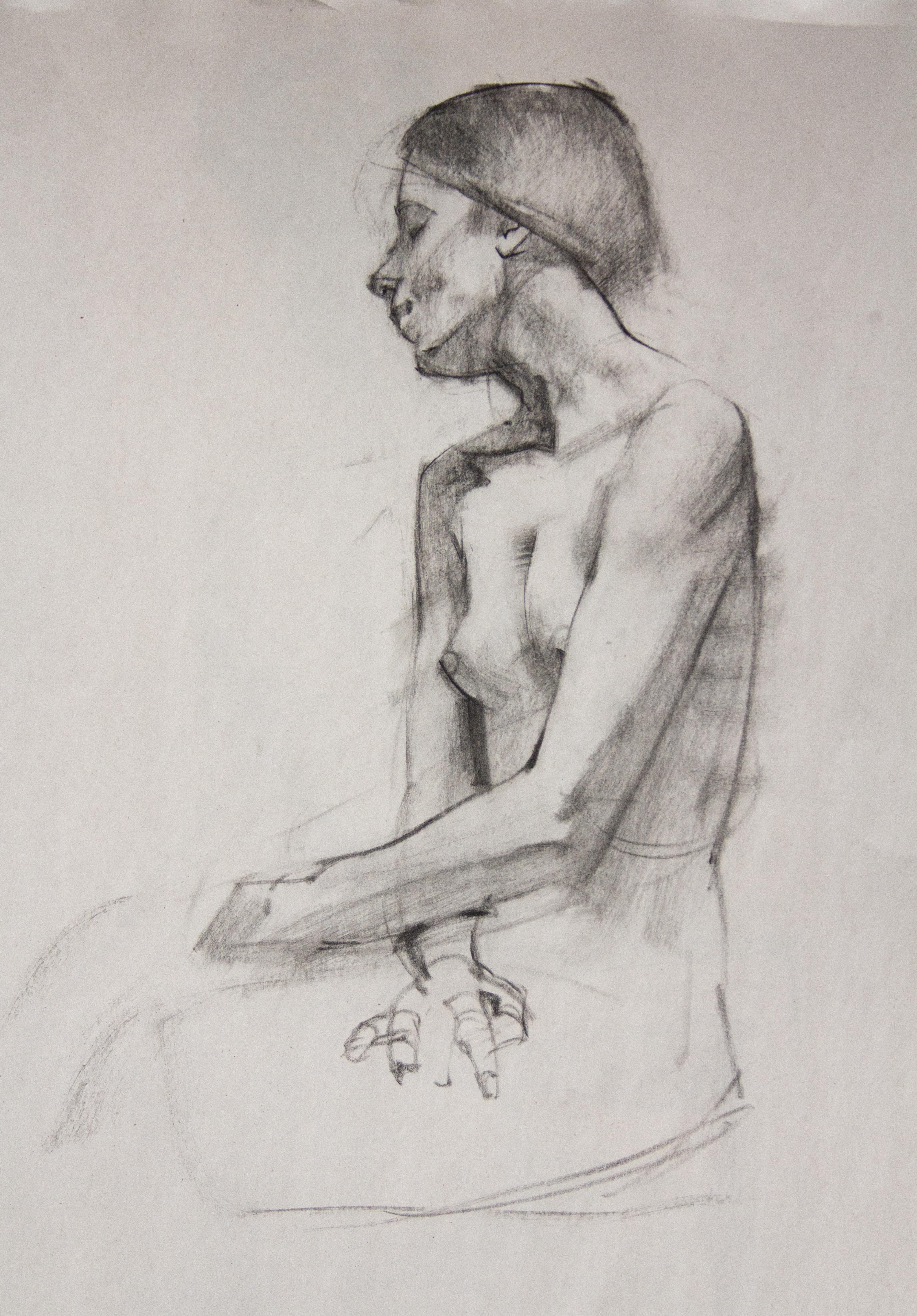 Female Study - Charcoal