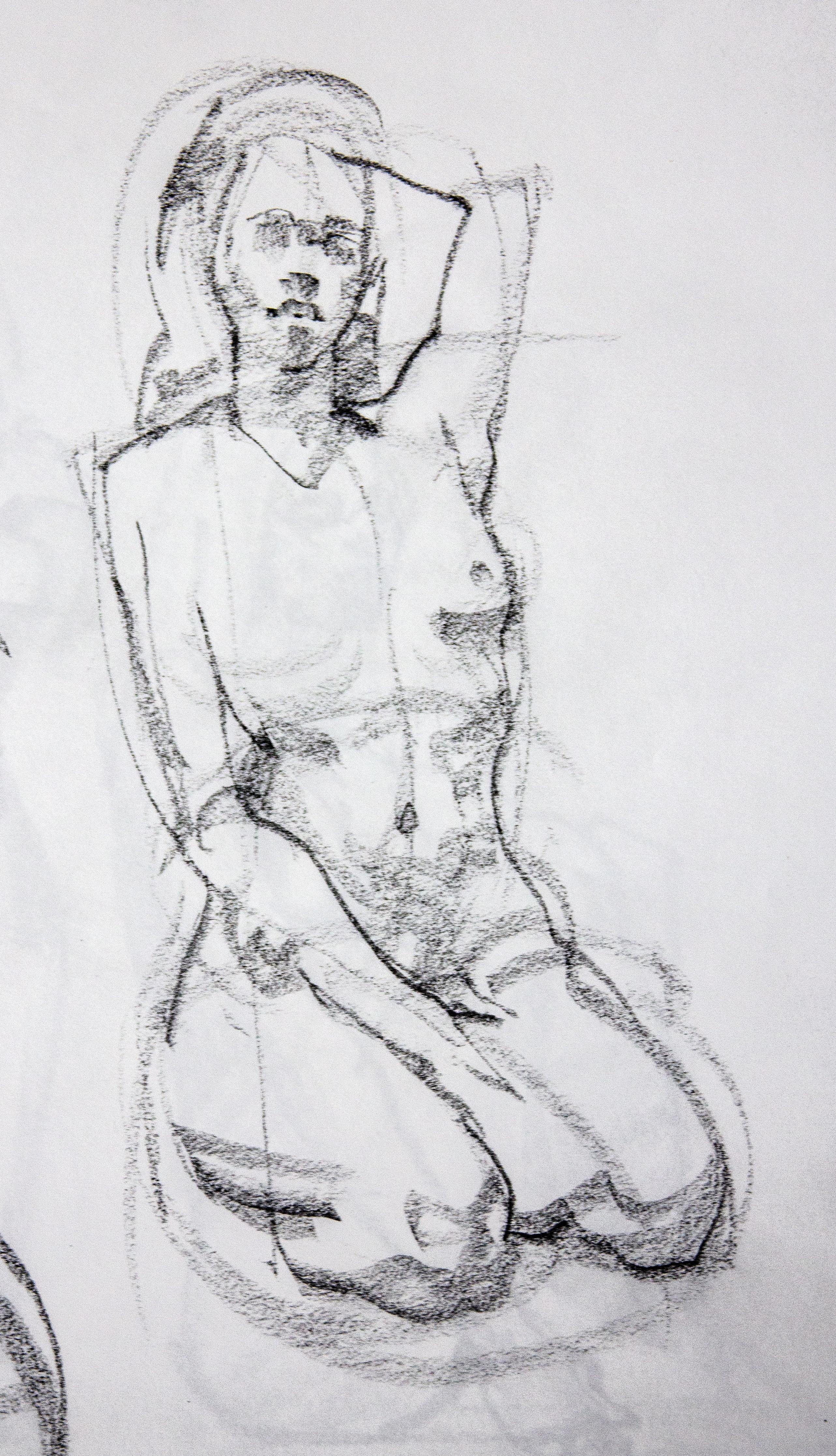 Gesture Female Model - Charcoal