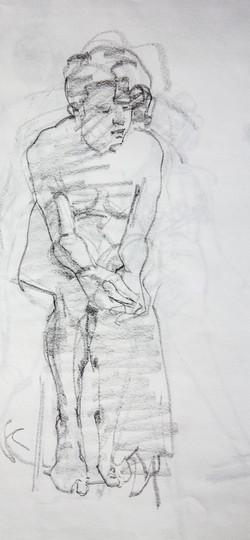 Sketch Female Model - Pencil