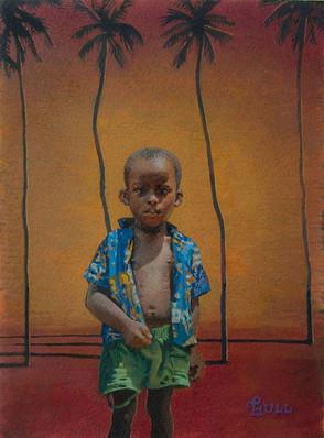 Frieghtened Ghanaian Boy