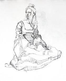 Costumed Model - Pencil