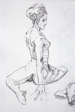 Gesture Young Woman - Pencil
