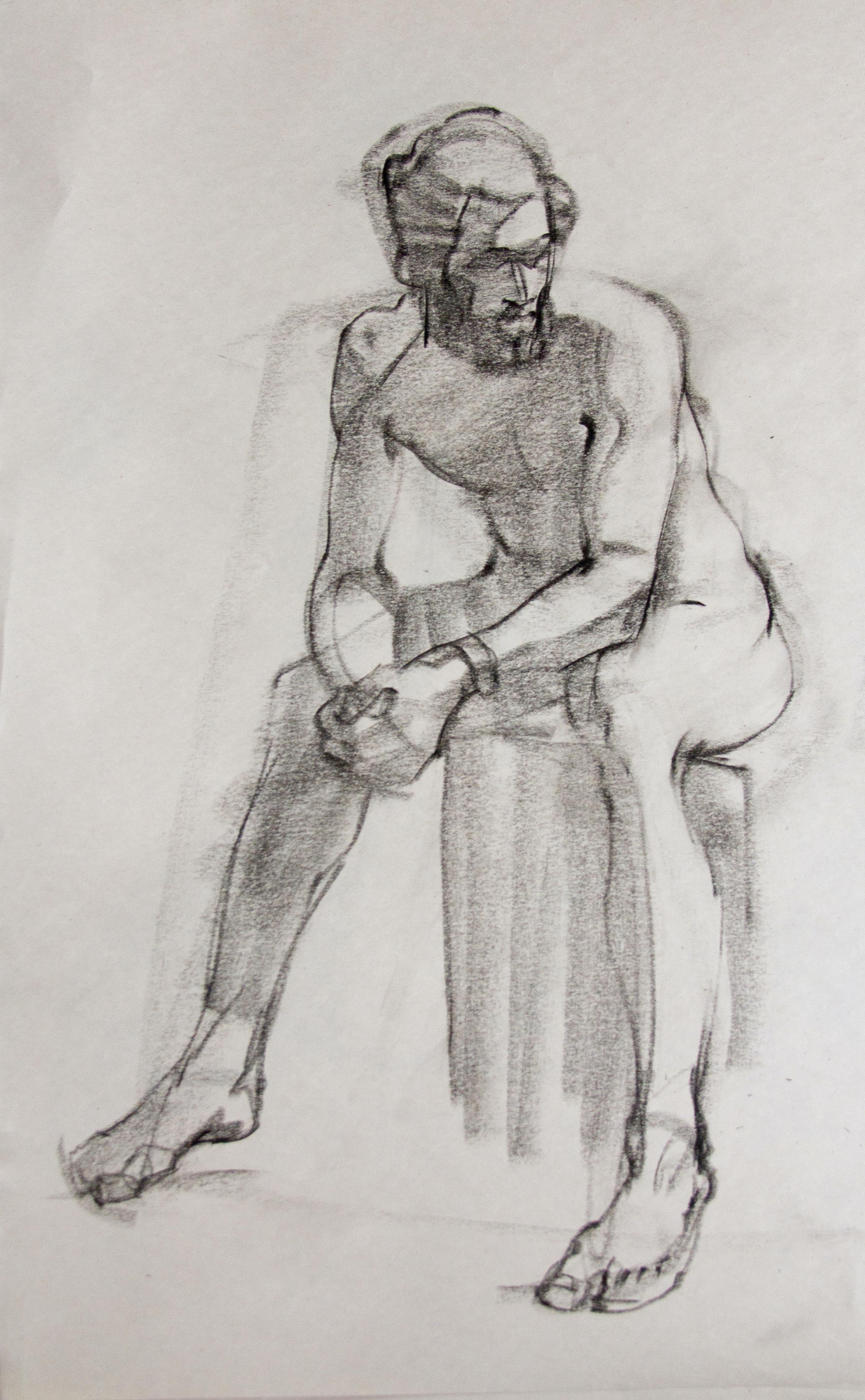 Male Figure - Charcoal