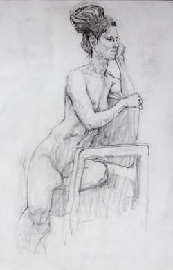 Sitting Female - Pencil
