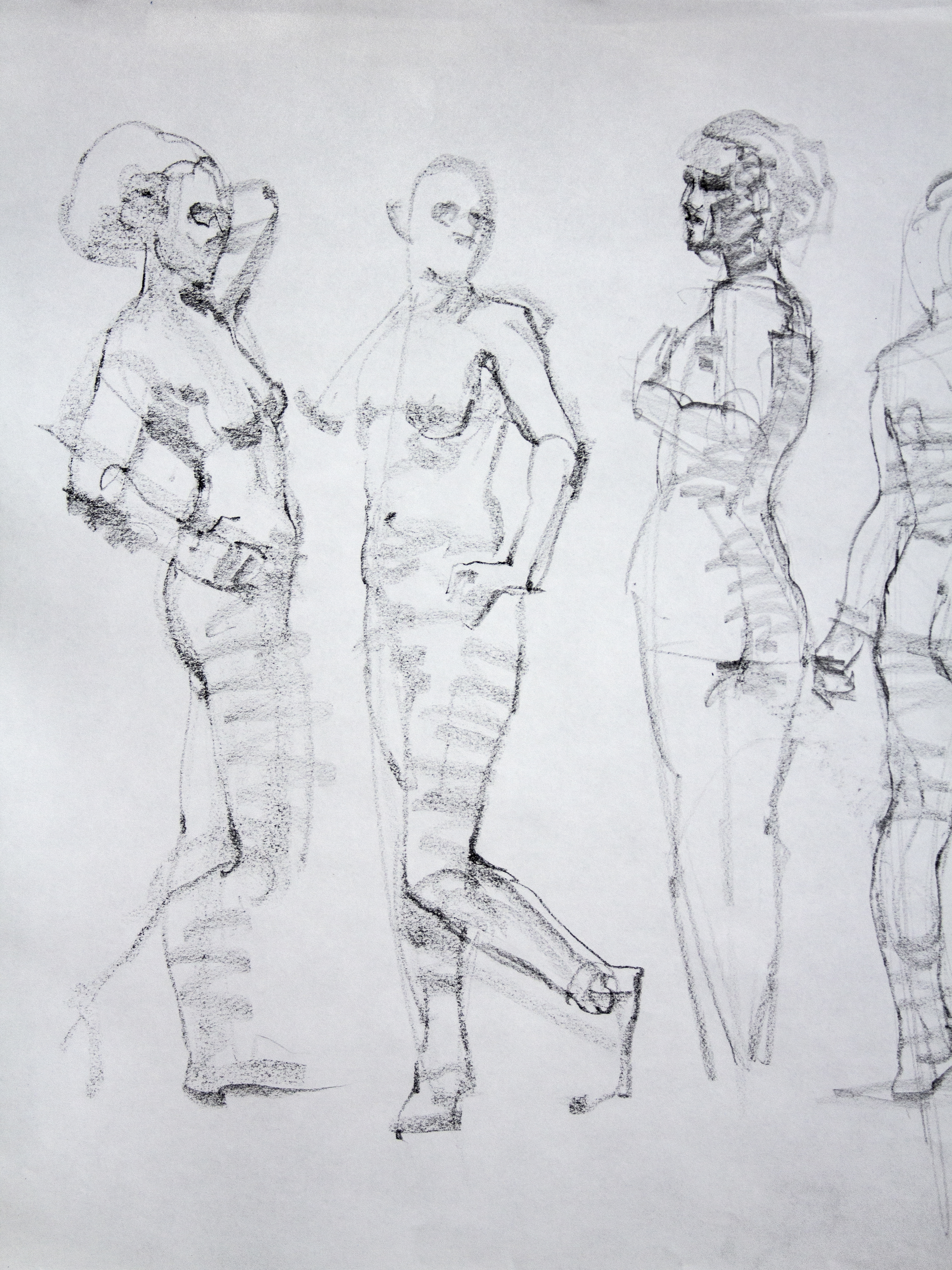 Gestures Young Female Model - Pencil