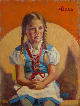 Little Girl in German Dress