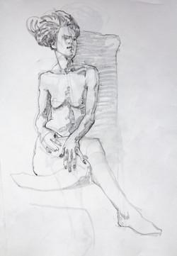 Drawing Young Woman - Pencil