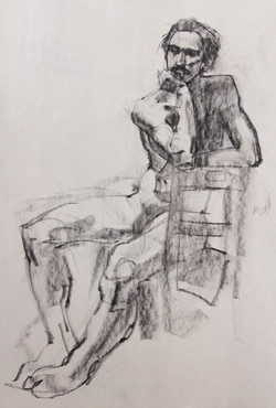 Drawing - Male - Charcoal