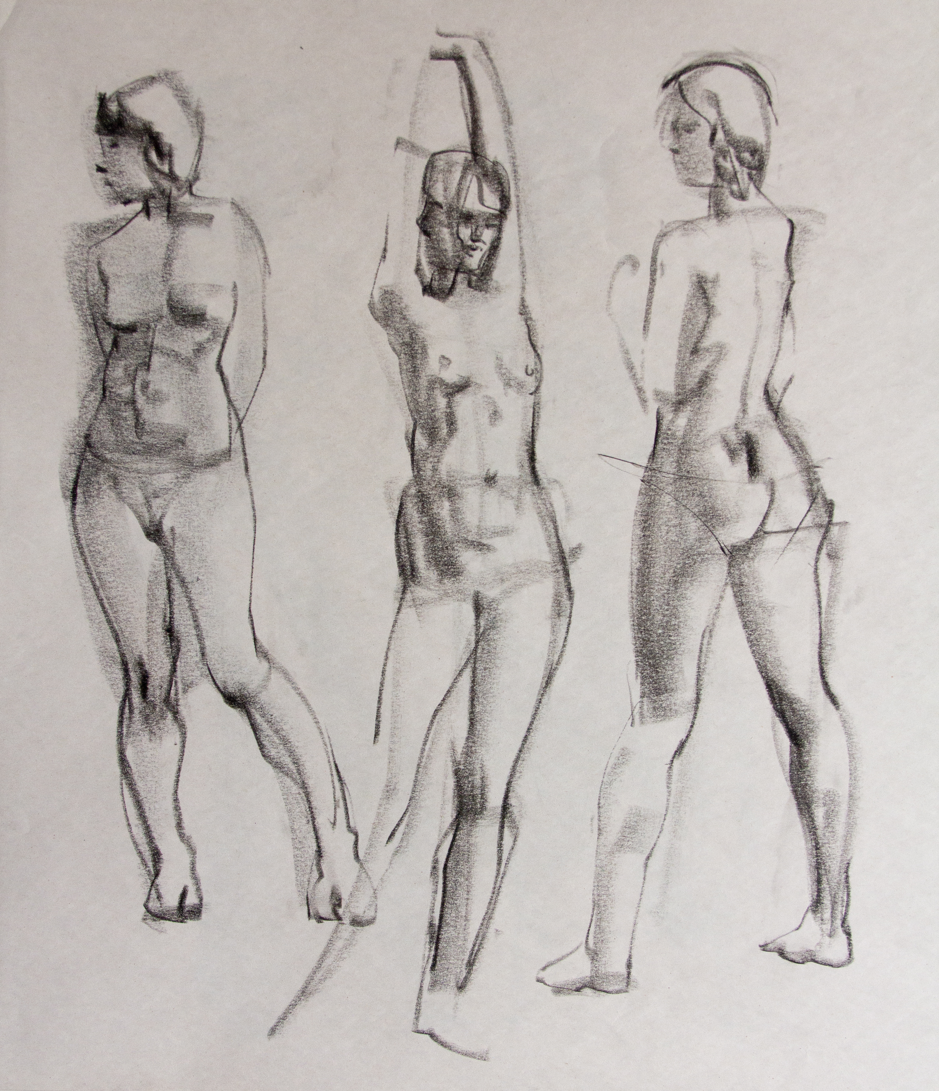 Gestures - Female Model - Charcoal