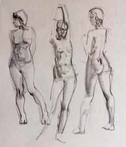 Gestures - Female Model - Charcoal