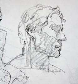Quick Head Study - Pencil