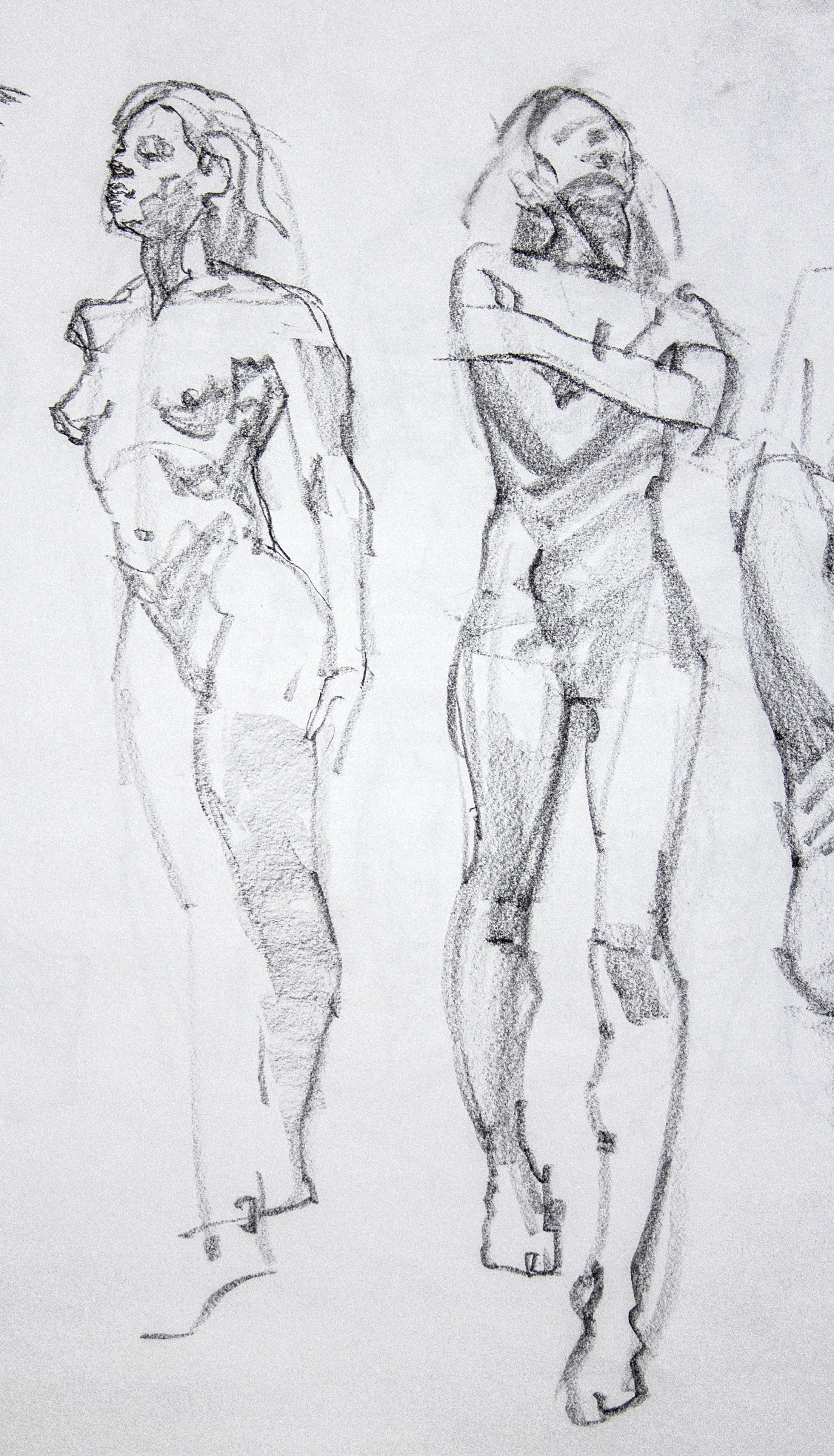 Gestures Standing Woman - Pencil