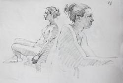Drawing Female Model - Pencil