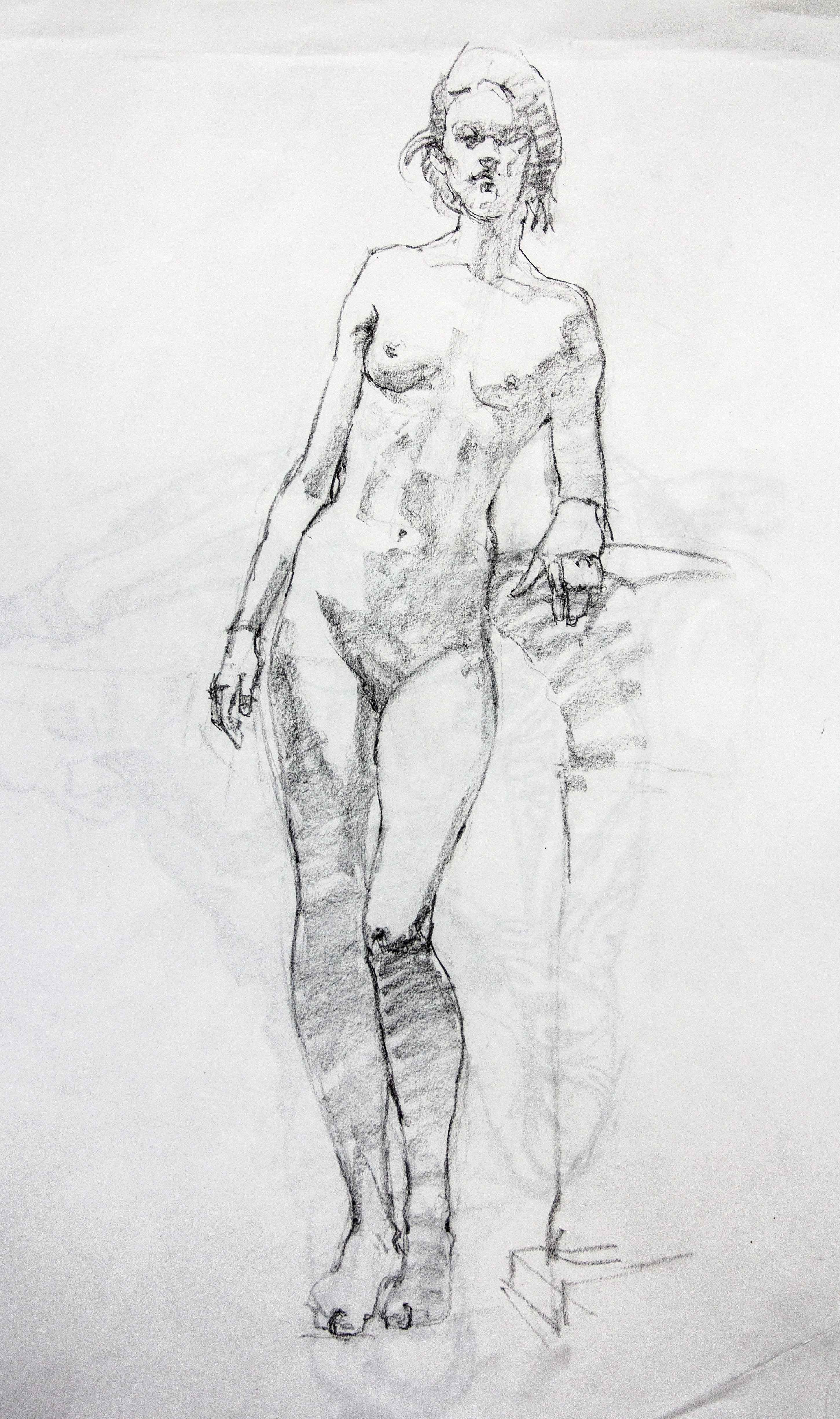 Female Model Standing - Pencil