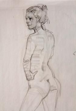 Study Female Figure - Pencil