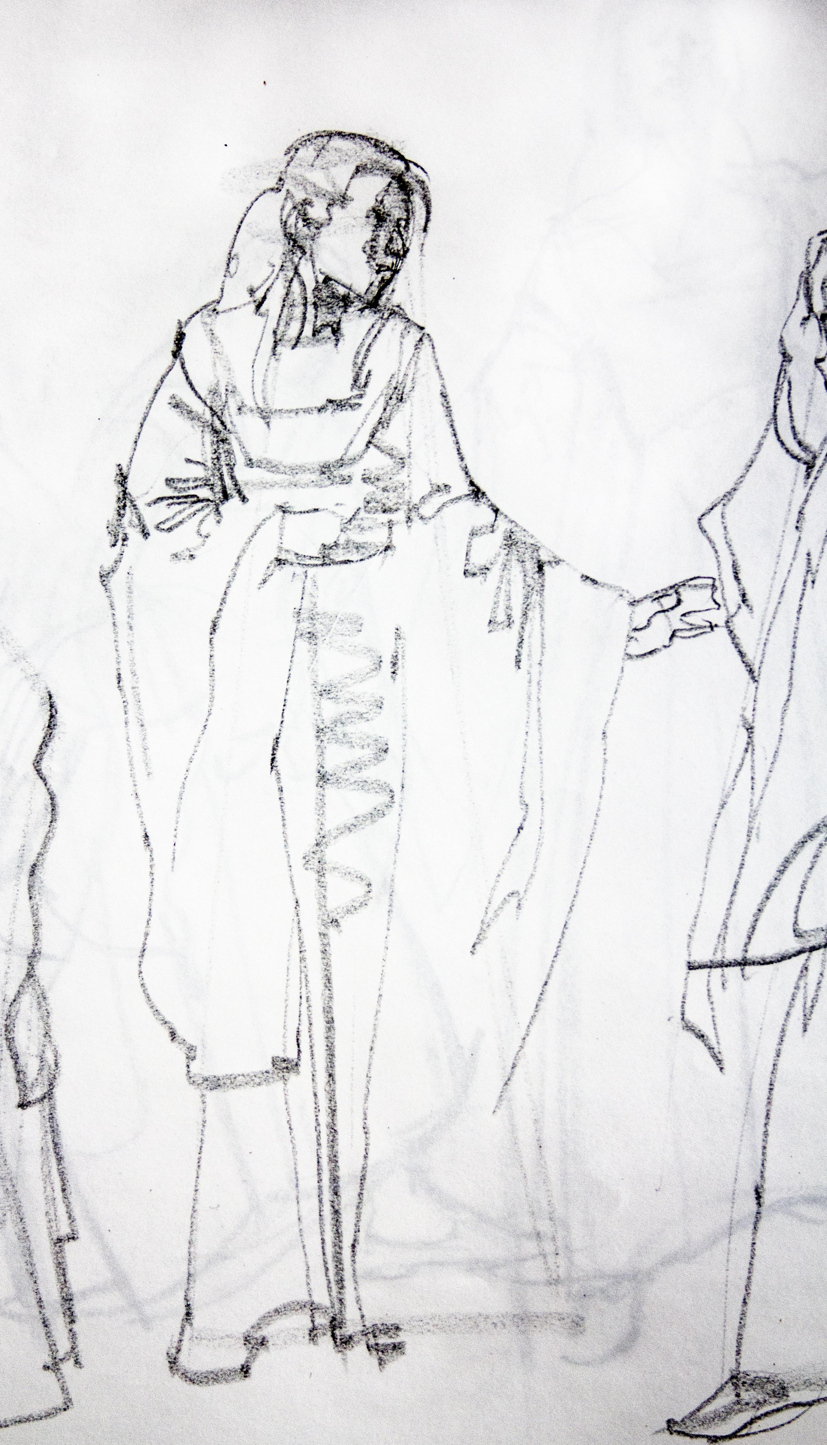 Gesture Costumed Model