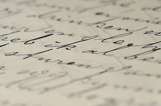 page d'écriture, calligraphie