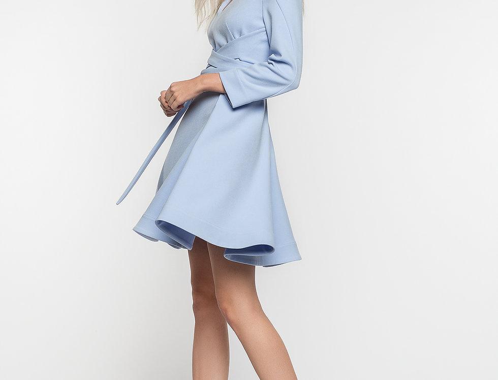 Короткое платье с завязками