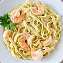 Savory shrimp Alfredo