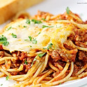 Baked spaghetti bolagnese