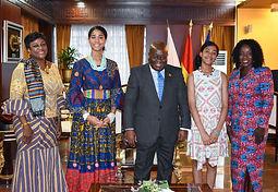 Ghana President Visit by DUSUSU  Foundat