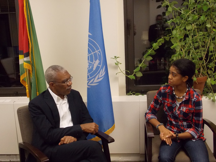 With Guyana President _ The UN