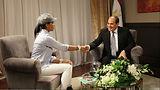 Zuriel Oduwole Meets President  Abdel Fa