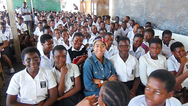 With Accra High School Students