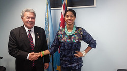 With Tuvalu Prime Minister