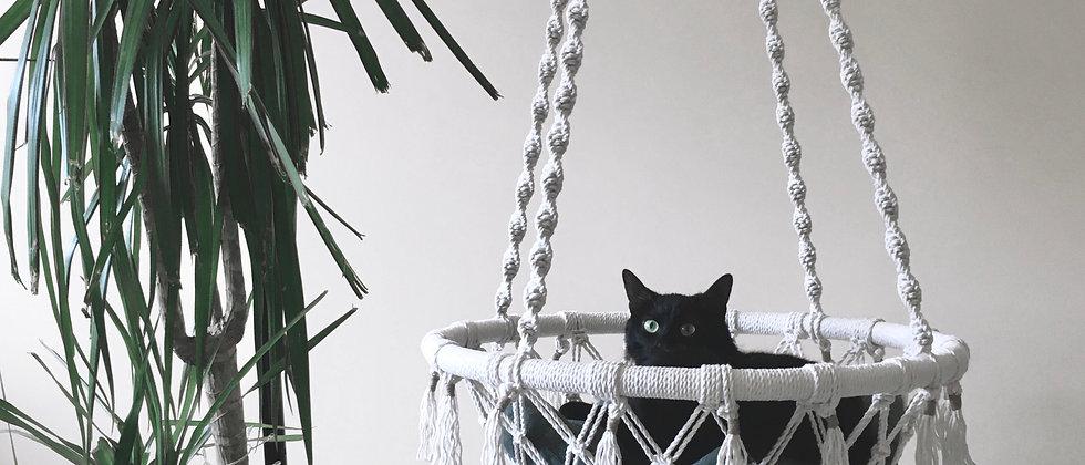 My Tiny Habits macrame cat hammock