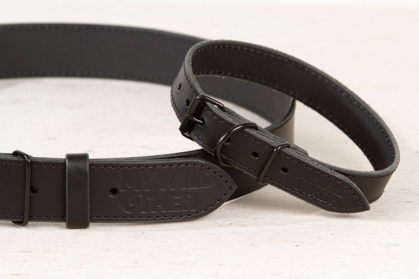 Human's belt black on black
