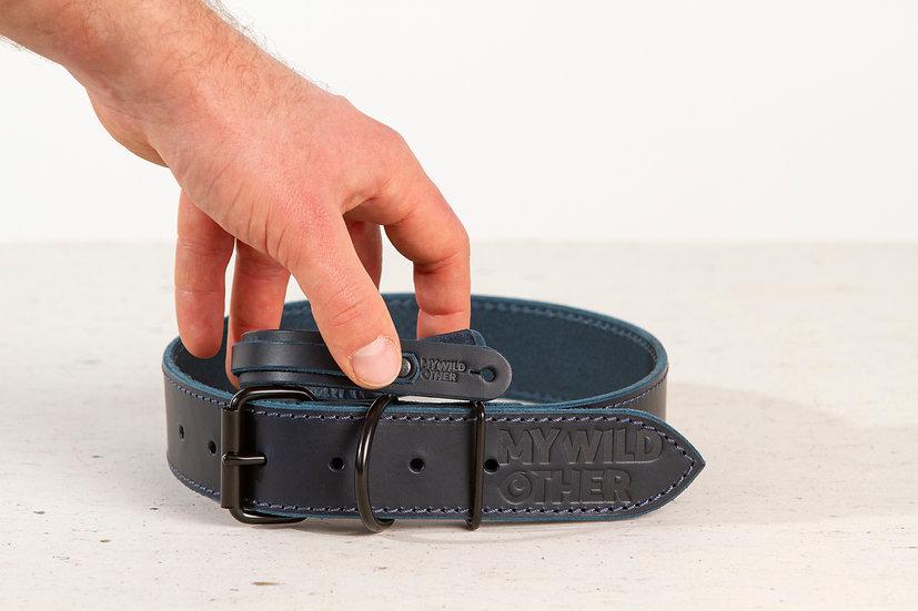 Human's wristband black on blue