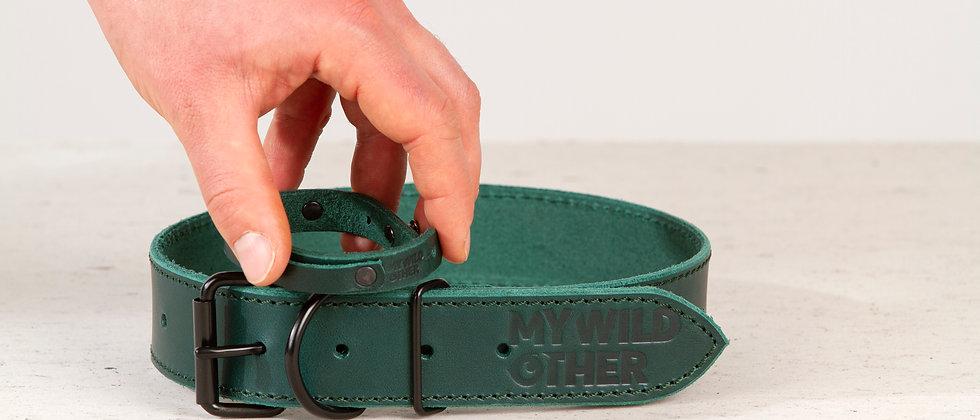 Human's wristband black on green
