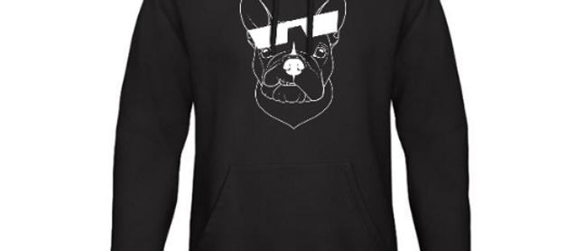 Dogs of Vilnius FRENCH BULLDOG hooded sweatshirt