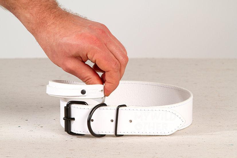Human's wristband black on white